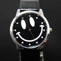 Lovely Smile Face Boys Girls Quartz Watch, Black, A49