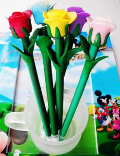ONE LOVE Rose Flower Ball Pen,Girl,Kid,Party Favor Suppy Bag Prize