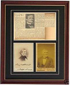 Jefferson Davis Autograph Signature Signed Civil War