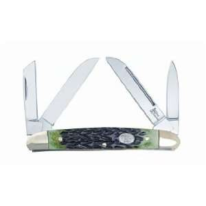 Steel Warrior Knife BENT CREEK CONGRESS Jade Green Jigged Bone SW
