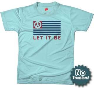 Let It Be Beatles Peace Retro 70s New Anti War T shirt