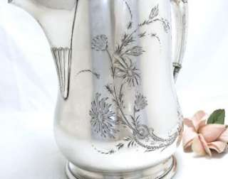 Gorgeous Huge VICTOR Silver Lemonade Or Water PITCHER 1890s