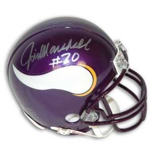 Autographed Jim Marshall Minnesota Vikings Mini Helmet
