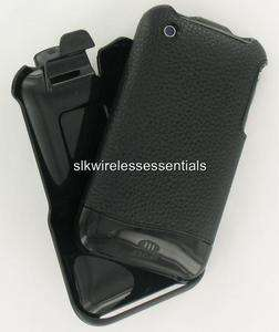 AGF iPhone 3G 3GS Genuine Black Leather Hard Case Cover+Holster