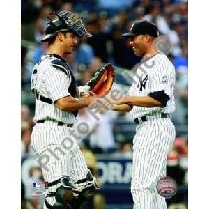Mariano Rivera Yankees 500th Save w/Posada 8x10  Sports