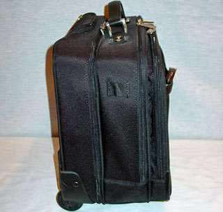 KENNETH COLE BLACK 14 ROLLING COMPUTER LAPTOP CARRY ON BAG NEW