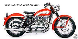 1956 HARLEY DAVIDSON ~ KHK MOTORCYCLE (RED) ~ MAGNET