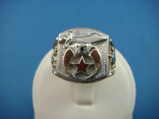MASONIC VINTAGE MENS RING MADE BY KINSLEY & SONSINC STAMPED INSIDE