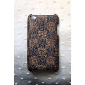 Leather Checker Hard Back Case Cover for iPod Touch/iTouch