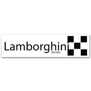 Lamborghini Racing Car Bumper Decal Sticker 8x2