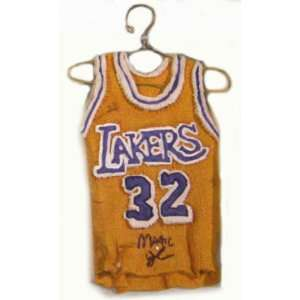 Magic Johnson Los Angeles Lakers Autographed Mini Resin Jersey