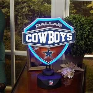 Dallas Cowboys NFL Neon Shield Table Lamp