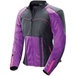 Joe Rocket Radar Womens Leather Motorcycle Jacket Purple