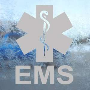 EMS Emergency Medical Services Gray Decal Window Gray