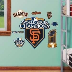San Francisco Giants 2010 World Series Champions Logo Fathead Jr. NIB