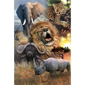 AFRICAN WILD LIFE BIG 5 KINGS 24 X 36 POSTER #PP30272