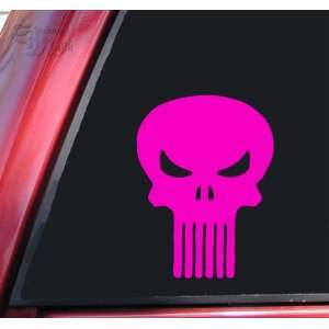 Punisher Skull Vinyl Decal Sticker   Hot Pink Automotive
