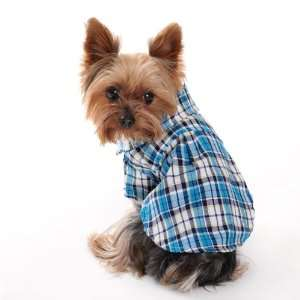 Spring Summer Pet Puppy Doggie Clothes Checked Dog T Shirt