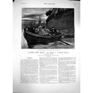 1879 James Payn Illustration Story Rescue Boat Ship