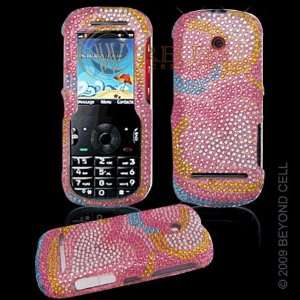 Cover Pink with Rainbow Love Hearts Design: Cell Phones & Accessories