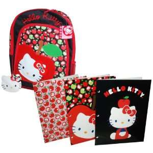 / School Bag and 3 Cute Hello Kitty Pocket Folders Toys & Games