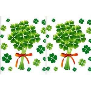 Four Leaf Clover Vinyl Wall Decals St Patricks Day