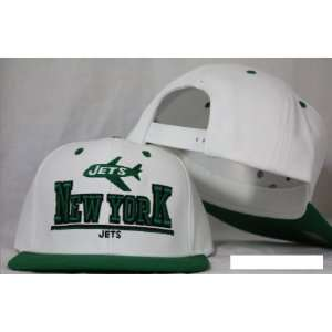 New York Jets Snapback White / Green Two Tone Adjustable Plastic Snap