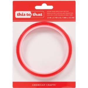 1/2Adhesive Double Sided Red Tape 5Yds (American Crafts