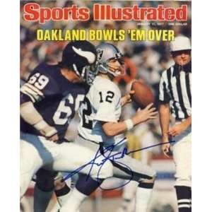 Ken Stabler Autographed/Hand Signed Oakland Raiders Sports Illustrated