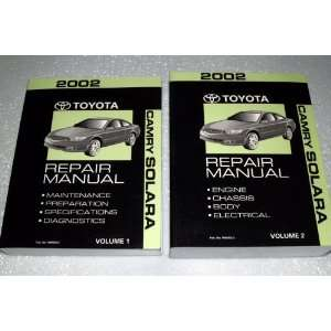 2002 Toyota Camry Solara Repair Manuals (2 Volume Set) Toyota