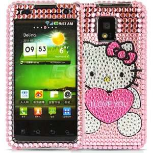 PINK HELLO KITTY CRYSTAL BLING CASE FOR LG OPTIMUS 2X Electronics