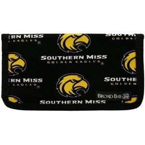 Southern Miss Golden Eagles Black Checkbook Cover Sports