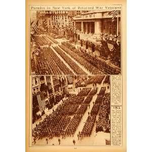 1922 Rotogravure World War I Veteran Parade 77th Division