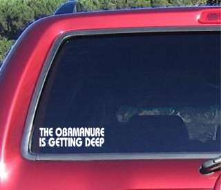 OBAMANURE anti Obama Republican Decal Sticker Bumper