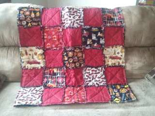 Vintage Fire Fighter Fire Truck Rag Baby Quilt