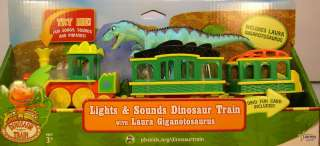 DINOSAUR TRAIN   LIGHTS & SOUND TRAIN   INCLUDES LAURA GIGANOTOS