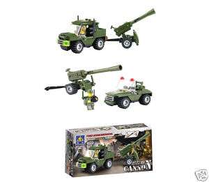 Cannon & Army Jeep   Building Block Brick Set 6041