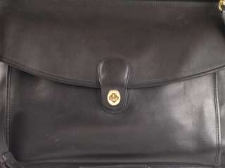 Vintage Coach Black Leather Beekman Briefcase 5266