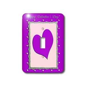 Beverly Turner Valentine Design   Purple Heart Frame, Happy Valentines