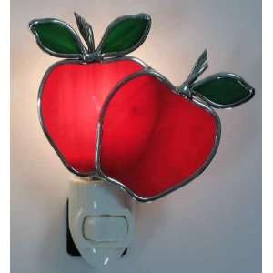 Stained Glass Apple Night Light