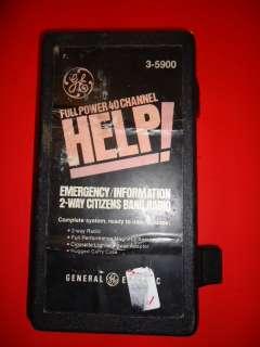 GE FULL POWER 40 CHANNEL HELP CB RADIO IN ORIG BOX