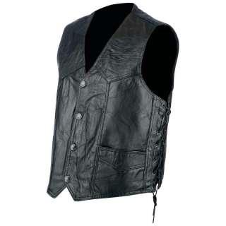 Rocky Ranch Hides Rock Design Genuine Hog Leather Biker Vest