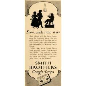 1928 Ad Smith Brothers Cough Drops Medicated Sweet   Original Print Ad