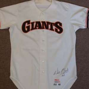 Will Clark 1986 San Francisco Giants Game Used Autographed