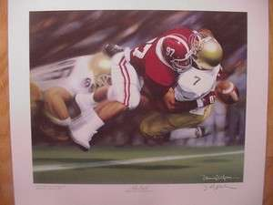 Daniel Moore Alabama Crimson Tide The Sack Print 1986 Cornelius
