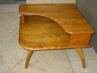 Vintage Heywood Wakefield Corner Stepstone Coffee End Table