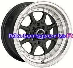 XXR 002 Gun Metal Rims Wheels 4x4.5 Deep Dish 71 Datsun 240z 260z 280z