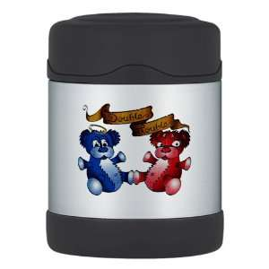 Thermos Food Jar Double Trouble Bears Angel and Devil
