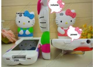 3D Cute Hard Hello kitty Back Case Cover Skin For iPhone 4S 4G W