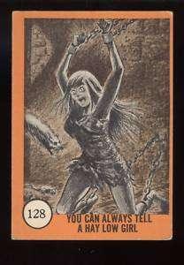 1961 Nu Cards Horror Monster Hay Low Girl #128 EX |